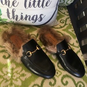 "Gucci ""Princetown"" Leather Mules/Loafers"